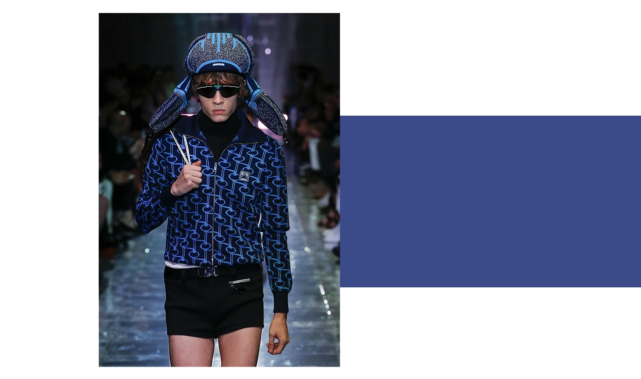 Favourite Collection/Prada Perfection. Prada is always a stand-out, and this season was no exception. I loved the '70s vibe of the collection, especially the trendy short shorts, and the trapper hat is on my must-have list! —Joseph Tang