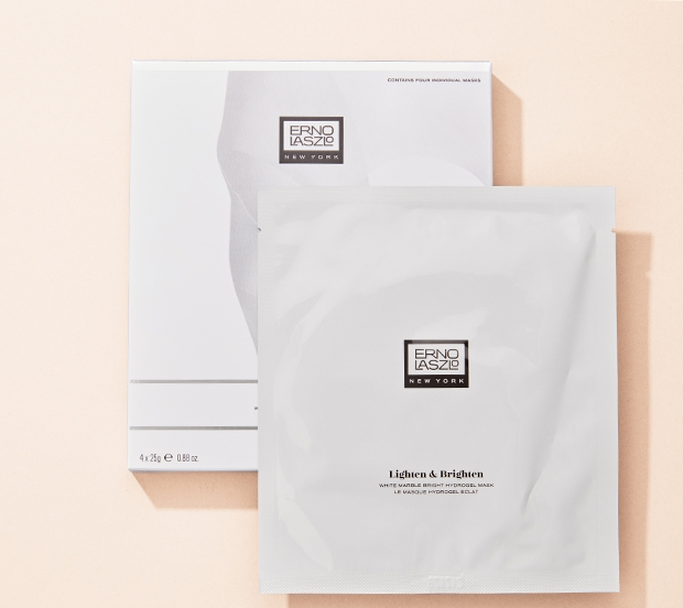 ERNO LASZLO Masque hydrogel éclat White Marble. Emballage simple, 22 $; emballage multiple, 80 $. En exclusivité chez Holt Renfrew. MAGASINER MAINTENANT