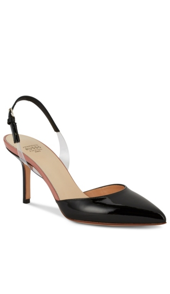 FRANCESCO RUSSO - Patent Leather Slingback Pumps | HoltRenfrew.com
