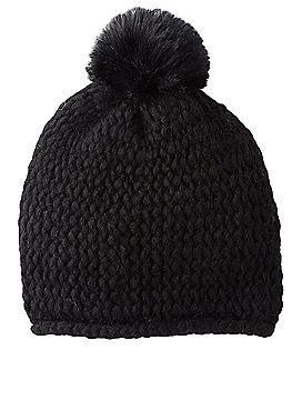 HOLT RENFREW - Chunky Knit Hat with Faux Fur Pom-Pom | HoltRenfrew.com