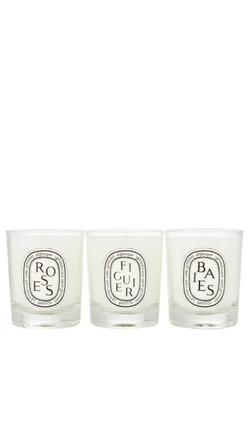 DIPTYQUE - Set of Mini Candles (Baies, Figuier, Roses) | HoltRenfrew.com