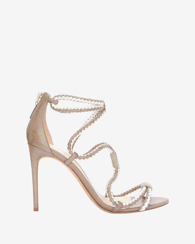 Alexandre Birman Braided Two-Tone Sandal