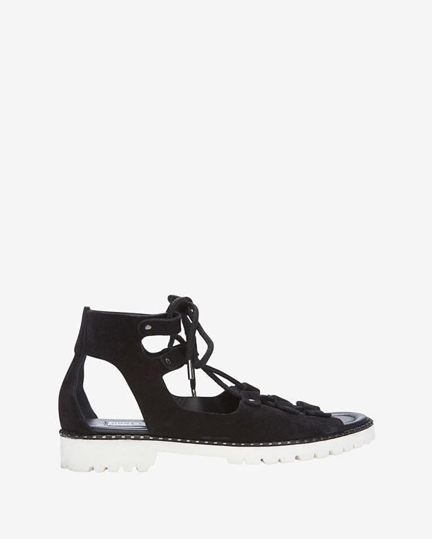 Jimmy Choo Tie Up Contrast Sole Sandal