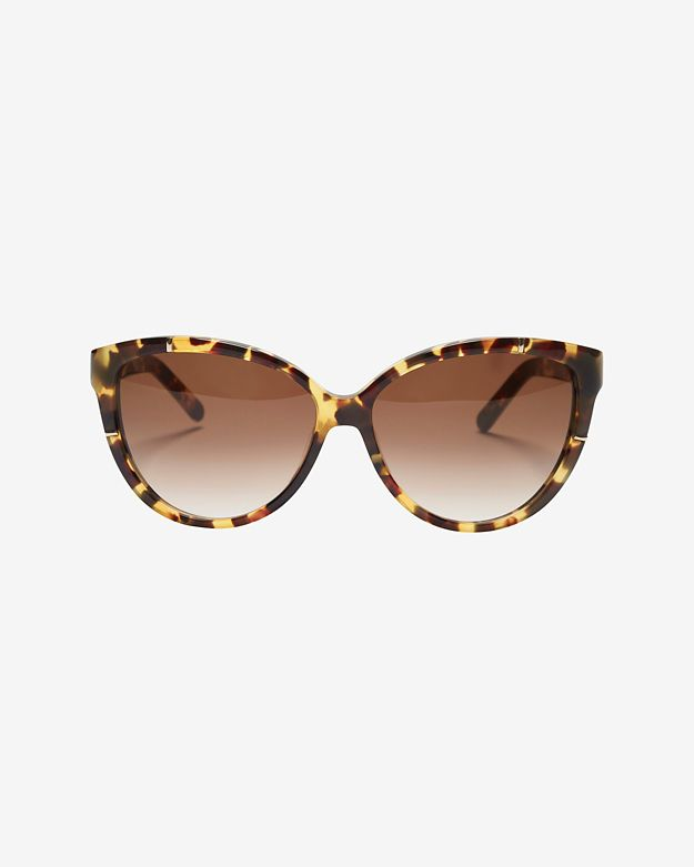 Chloe Caspia Oversized Cat Eye Sunglasses: Tortoise