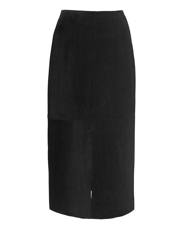 Alexa Chung for AG Ortiz Suede Skirt: Black