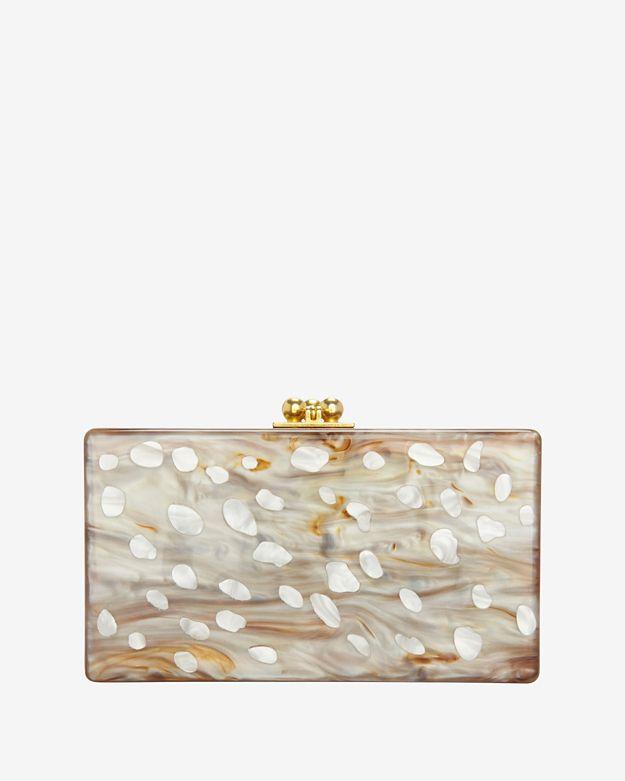 Edie Parker Jean Bambi Marble Box Clutch