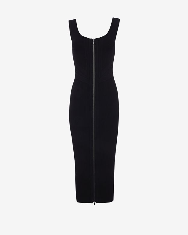 Ohne Titel EXCLUSIVE Zip Front Ribbed Dress