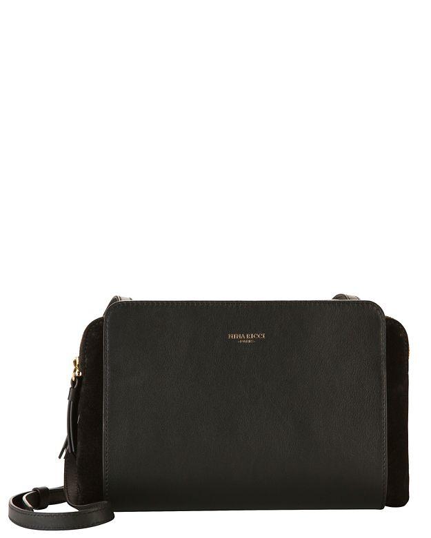 Nina Ricci Marche Small Leather Crossbody: Black