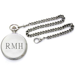 Engravable Stainless Steel Pocket Watch