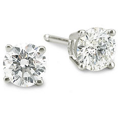 ¾ CT. T.W. Diamond Stud Earrings