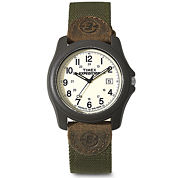 Timex® Expedition White Dial with Brown Nylon Strap Camper Watch 491017R