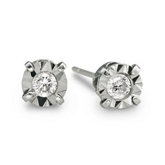 1/5 CT. T.W. Diamond Stud Earrings 10K White Gold