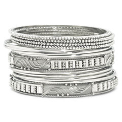 Bold Elements™ 14-pc. Silver-Tone Bangle Bracelet Set