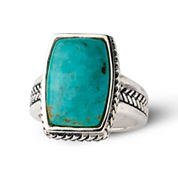 Sterling Silver Genuine Turquoise Ring