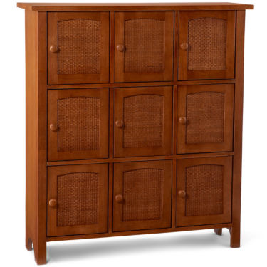 Wicker & Wood Kitchen Cabinet