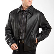 Excelled® Nappa Leather Self-Elastic Bomber Jacket – Big & Tall