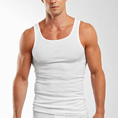 Hanes® 3–pk. Cotton Athletic Shirts–Big & Tall