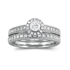 tw certified diamond bridal set - Jcpenney Jewelry Wedding Rings