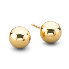 14K Gold 5mm Ball Earrings
