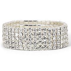 Vieste® Crystal 5-Row Stretch Bracelet