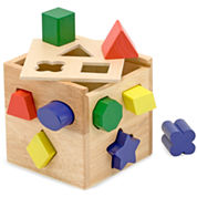 Melissa & Doug® Shape Sorting Cube Learning Toy