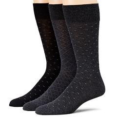 Stafford® 3-pk. Cotton-Rich Crew Socks - Big & Tall
