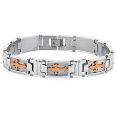 Men's Cross Bracelet Stainless Steel