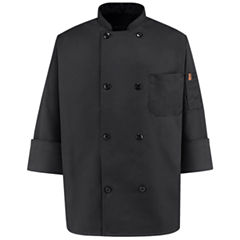 Chef Designs® Black Chef Coat–Big & Tall