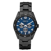 Claiborne Mens Black & Blue Multi-Function Watch