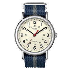Timex® Weekender Blue & Gray Fabric-Strap Watch