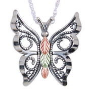 Black Hills Gold Jewelry by Coleman® Butterfly Pendant Necklace