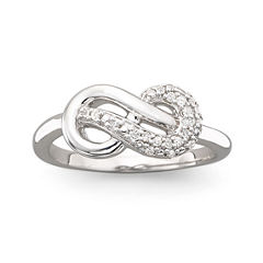 Infinite Promise 1/10 CT. T.W. Sterling Silver Diamond Ring