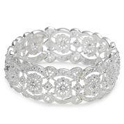 Vieste® Crystal Lace-Look Stretch Bracelet