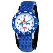 Marvel Spider-Man Time Teacher Kids Blue Watch