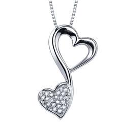 Love Grows™ 1/10 CT. T.W. Diamond Pendant Heart Necklace