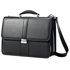 Samsonite® Leather Front Flap Business Case
