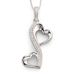 Love Grows™ 1/10 CT. T.W. Diamond Hearts Pendant
