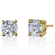Simulated Diamond, Diamonore™ Studs 2 CT. T.W. 14K