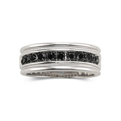 Mens 1 CT. T.W. Black Diamond Ring Sterling Silver
