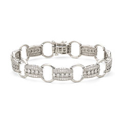 1 CT. T.W. Diamond Sterling Silver Bracelet
