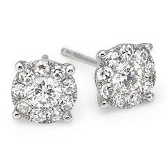 Brilliant Dream™ 1/2 CT. T.W. Diamond 14K White Gold Stud Earrings