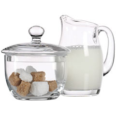 Michelangelo Collection By Luigi Bormioli Sugar & Creamer Set