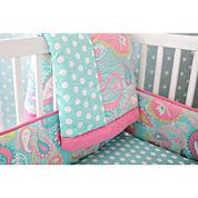 My Baby Sam Aqua Pixie Crib Bumper