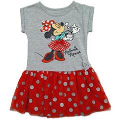 Disney By Okie Dokie Short Sleeve Mickey Mouse Tutu Dress - Preschool Girls
