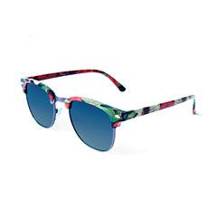 Tropical Retro Rectangle Sunglasses