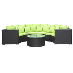 Roundano 2-pc. Wicker Patio Sectional