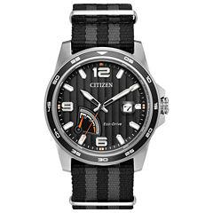 Citizen Mens Black Strap Watch-Aw7030-06e