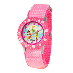 Disney Disney Fairies Girls Pink Strap Watch-W000081