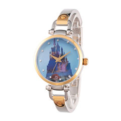 Disney Princess Castle Womens Two Tone Watch-Wds000071