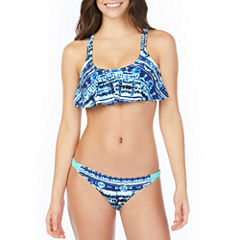 Arizona Tie Dye Flounce Swimsuit Top or Hipster Bottom-Juniors